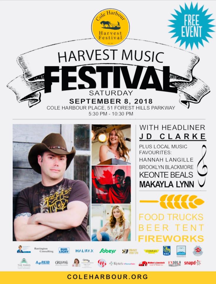 facebook harvest event poster
